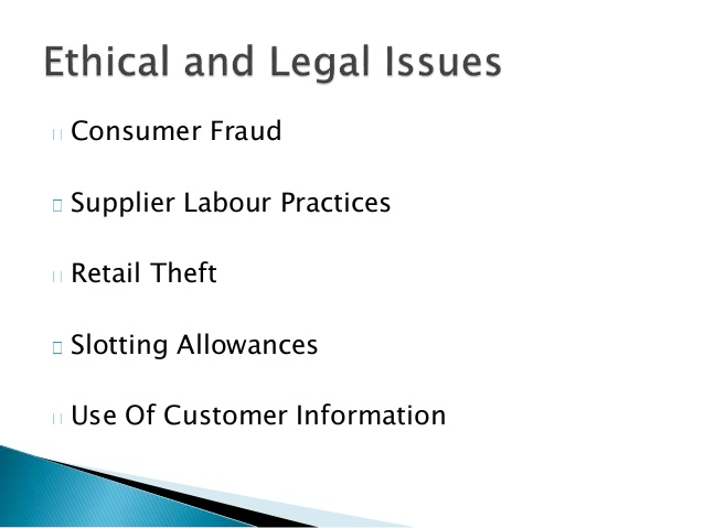 RM/U4 Topic 7 Legal & Ethical Issues in Retailing – HOME