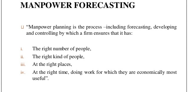 HRM/U2 Topic 4 Demand forecasting for manpower planning, HR